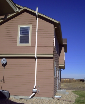 New construction passive mitigation system installed in Fort Collins Colorado
